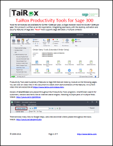 TaiRox Productivity Tools